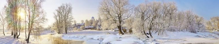зима и речка