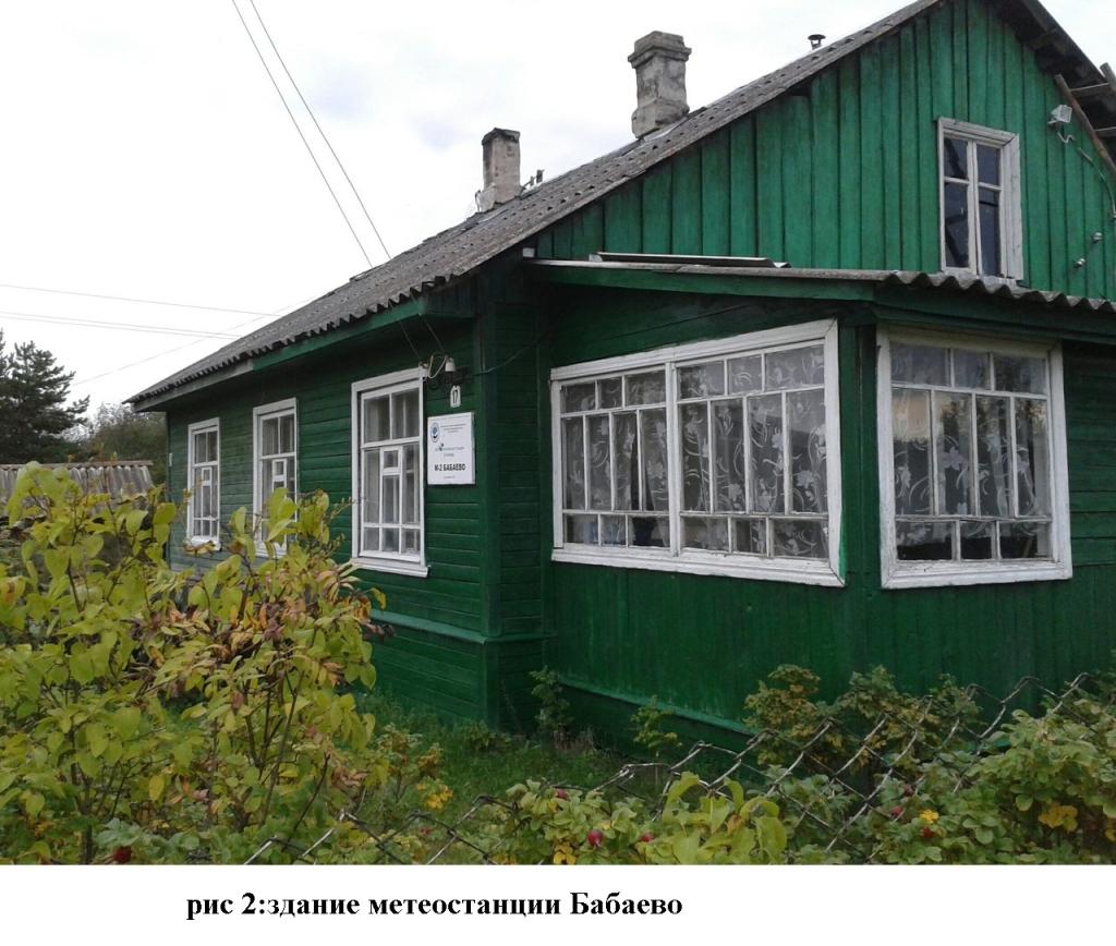 здание метеостанции Бабаево